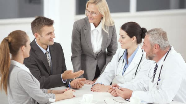 Doctors in a business meeting